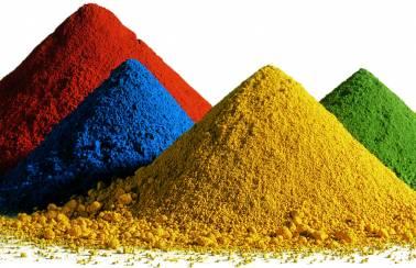 Pigments minéraux utilisés pour colorer le béton