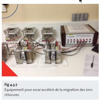 Fig 4.3.7 Equipement pour essai accéléré de la migration des ions chlorures - fr
