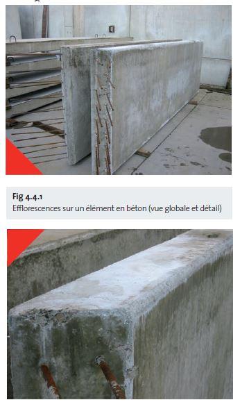 Fig 4.4.1 Efflorescences sur un élément en béton - fr