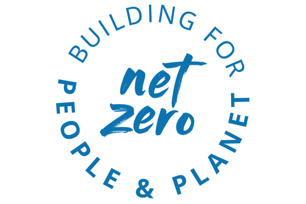 net zero logo blue tilted right